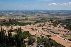 Stad av Montepulciano i Tuscany, Italien Arkivbilder