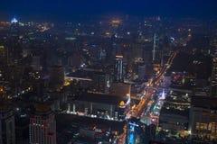 Stad av natten Arkivfoto