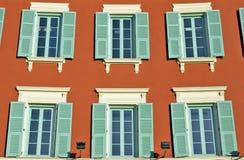 Stad av Nice - arkitektoniska detaljer Arkivbild