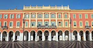 Stad av Nice - arkitektur av stället Massena Royaltyfri Foto