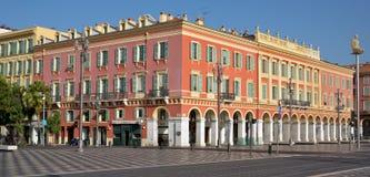 Stad av Nice - arkitektur av stället Massena Royaltyfria Foton