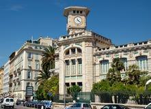 Stad av Nice - arkitektur längs Promenade des Anglais Arkivfoton