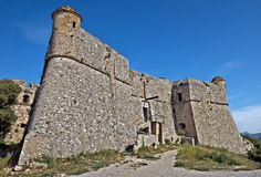 Stad av Nice - fort du Mont Alban Arkivbild