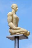 Stad av Nice - glödande staty på stället Massena Fotografering för Bildbyråer