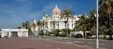 Stad av Nice - hotell Negresco Arkivfoto