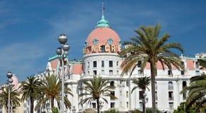 Stad av Nice - hotell Negresco Fotografering för Bildbyråer