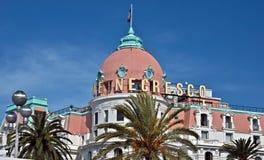 Stad av Nice - hotell Negresco Arkivfoton