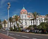 Stad av Nice - hotell Negresco Arkivbilder