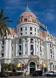 Stad av Nice - hotell Negresco Royaltyfria Foton