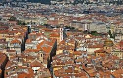 Stad av Nice - sikt av staden från över Royaltyfri Fotografi