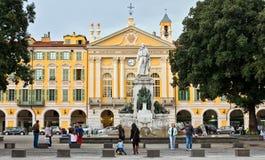 Stad av Nice - ställe Garibaldi i Vieille Ville Arkivfoton