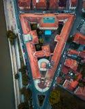 Stad av Nis University som bygger flyg- sikt i Serbien arkivbilder