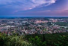 Stad av Nitra från över Royaltyfri Fotografi