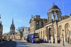 Stad av Oxford i England Royaltyfri Fotografi