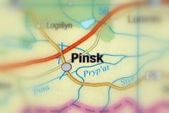 Stad av Pinsk, Vitryssland Arkivbild