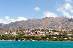 Stad av Plaka på Kreta Arkivfoton