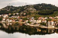 Stad av Ploce nära Dubrovnik, Dalmatia royaltyfria bilder
