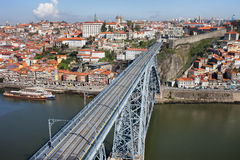 Stad av Porto i Portugal Arkivbilder