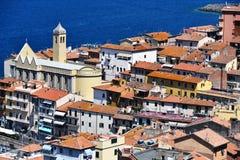 Stad av Porto Santo Stefano, Tuscany, Italien Arkivfoton