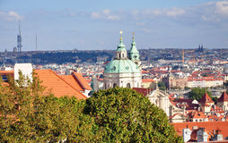 Stad av Prague i sommaren, Tjeckien, Europa Arkivfoton