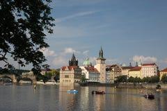 Stad av Prague, Tjeckien, horisont arkivfoton