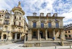 Stad av Ribadeo i Lugo royaltyfri foto