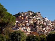 Stad av Rocca di Far Royaltyfria Foton