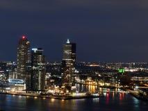 Stad av Rotterdam horisont Arkivbilder