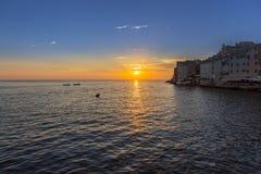 Stad av Rovinj i Kroatien Arkivfoton