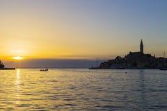 Stad av Rovinj i Kroatien Fotografering för Bildbyråer
