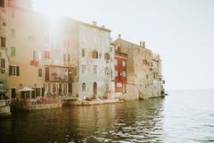 Stad av Rovinj, Kroatien Arkivfoto