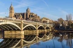 Stad av Salamanca, Spanien arkivbilder