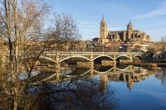 Stad av Salamanca, Spanien Fotografering för Bildbyråer