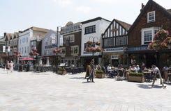 Stad av Salisbury Wiltshire England UK royaltyfri fotografi