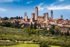 Stad av San Gimignano Royaltyfria Foton