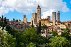 Stad av San Gimignano Arkivbild