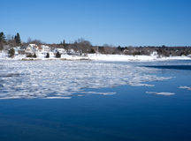Stad av Searsport, Maine strand Arkivbild