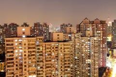 Stad av Shanghai på natten Royaltyfri Fotografi