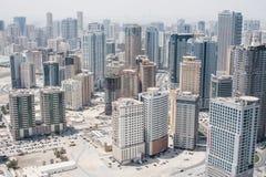 Stad av Sharjah, UAE royaltyfri foto