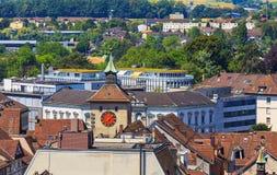 Stad av Solothurn i Schweiz arkivbild