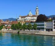 Stad av Solothurn i Schweiz Arkivbilder