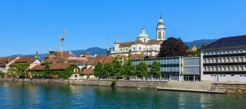 Stad av Solothurn i Schweiz Royaltyfri Fotografi