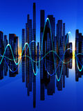 Stad av Soundwaven 6 Arkivfoton