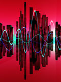Stad av Soundwaven 7 Arkivbild