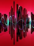 Stad av Soundwaven 7 royaltyfri illustrationer