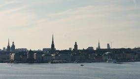Stad av Stockholm, tidschackningsperiod arkivfilmer