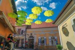 Stad av Szentendre i Ungern Royaltyfria Bilder