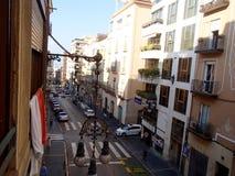 Stad av Tarragona från balkong royaltyfri foto