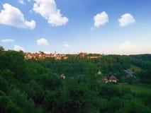 Stad av tauber för Rothenburg obder arkivbild