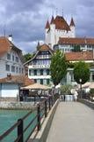 Stad av Thun, Schweiz Royaltyfri Foto